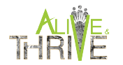 Alive and Thrive logo
