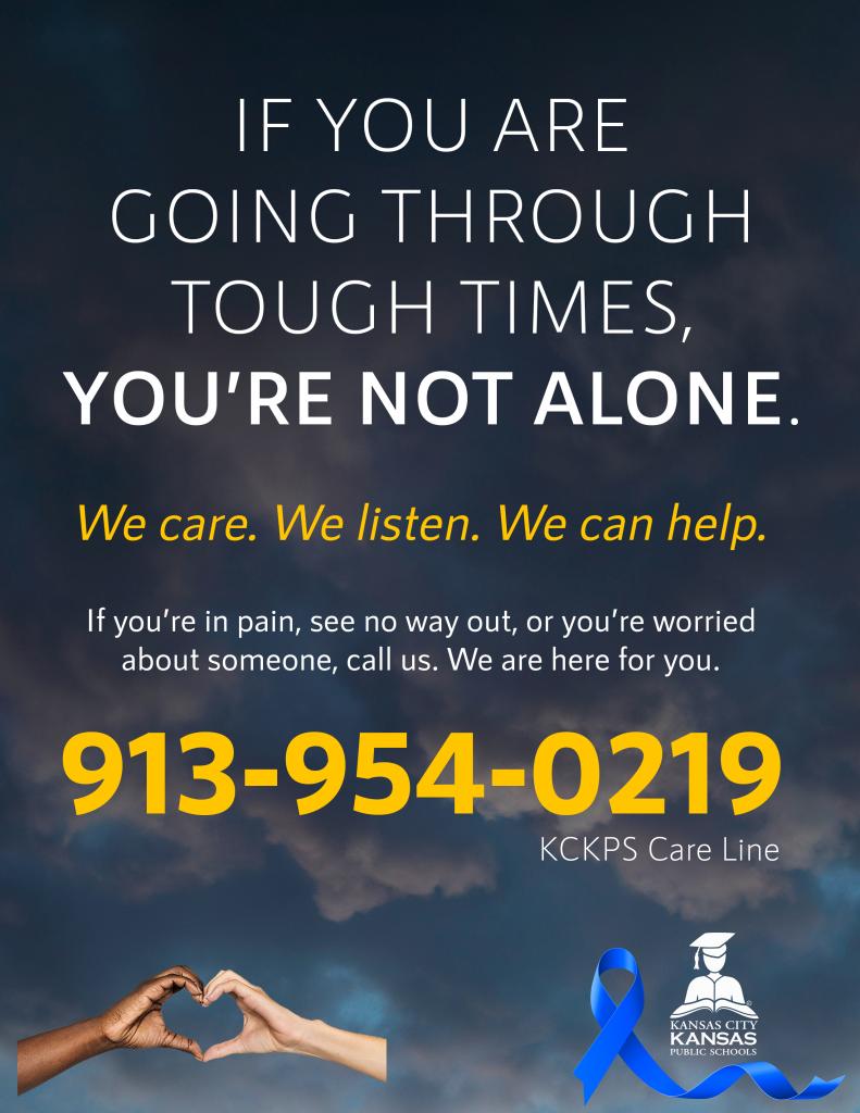 KCKPS Care Line: 913-954-0219